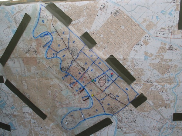 The Map for Invading Baghdad